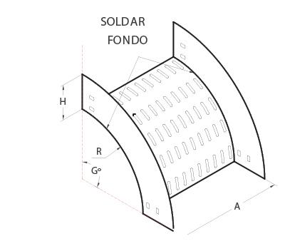 Bandejas mjm for Curva vertical exterior 90